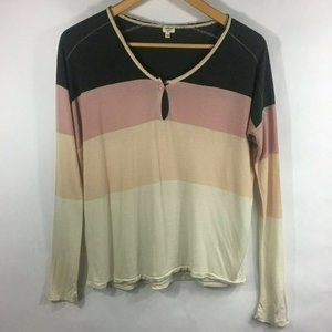 Wilfred Aritzia  Long Sleeve Shirt  Gray and Pink